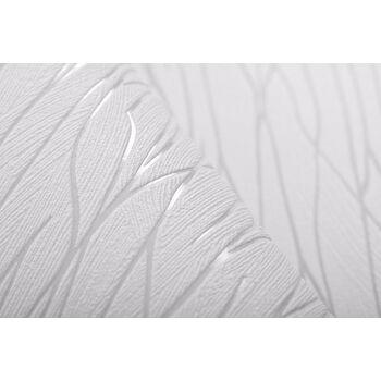 Streifen Tapete EDEM 122n-20 Vinyltapete geprägt Ton-in-Ton und Metallic Effekt weiß grau 5,33 m2