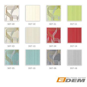 Streifen-Tapete EDEM 557-13 Hochwertige Tapete strukturiert in Textiloptik matt hell-elfenbein grau-beige 5,33 m2