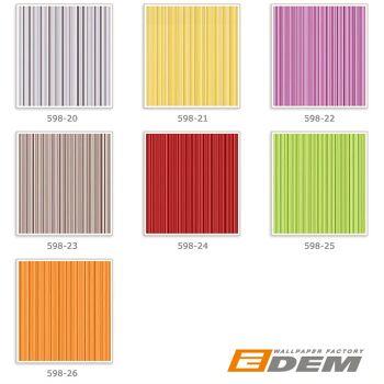 Uni-Tapete EDEM 598-22 Geprägte Tapete strukturiert mit Streifen matt rot-lila signal-violett 5,33 m2