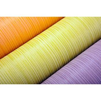 Uni-Tapete EDEM 598-26 Geprägte Tapete strukturiert mit Streifen matt pastell-orange gelb-orange 5,33 m2