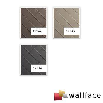 Dekorpaneel Leder Optik WallFace 19546 CORD Charcoal Light Wandverkleidung geprägt in Nappaleder Optik matt selbstklebend grau 2,6 m2