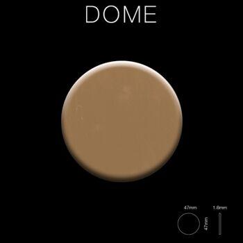 Mosaik Fliese massiv Metall Titan hochglänzend in Kupfer 1,6mm stark ALLOY Dome-Ti-AM 0,73 m2