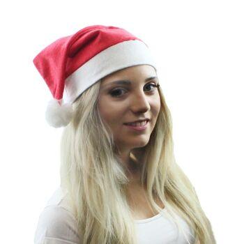 27-95003, Weihnachtsmütze mit Bommel, Nikolausmütze