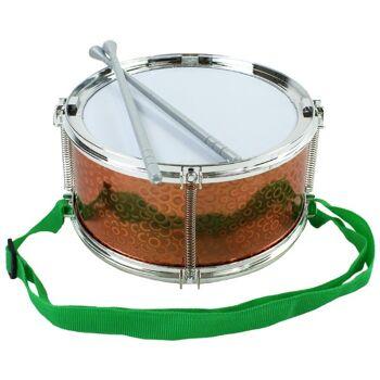 27-95037, Trommel metallic mit Gurt, mit 2 Sticks, Schlagzeug