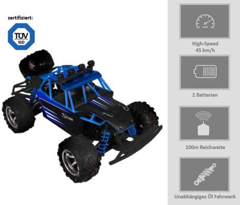 Stossdämpfer, LED Beleuchtung Remote Control Modellbau Auto Truck Monstertruck Baja Spielzeug Geschenk Fahrspaß Geländewagen Fahrwerk Federn