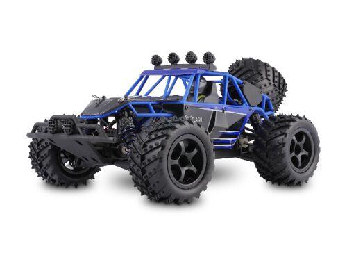 Overmax X-Flash ferngesteuerter RC Buggy 45 km/h, 1:18, 2 Akkus, Allrad, 100m, Öl Stossdämpfer, LED Beleuchtung Remote Control Modellbau