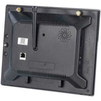 VisorTech DSC-720.mc Funk Überwachungs-Set mit 1 LED-HD-Kamera in weiß + Monitor Videoüberwachung Funküberwachung Überwachungskamera