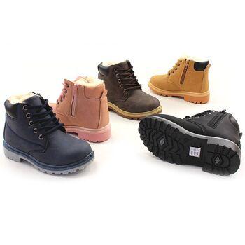 Kinder Mädchen Jungen Trend Stiefeletten Warm Gefüttert Boots Stiefel Halbstiefel Schlupfstiefel Reißverschluss Herbst Winter Shoes Outdoor