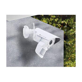 VisorTech Überwachungskamera DSC-720.led weiß mit LED-Licht und PIR-Sensor Kamera Cam Sicherheit Schutz Einbrecher Aufnahme