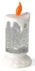 28-101081, LED Kerze - Glamour 18 cm, Farbwechsel, Wasser, Glitter, ein Rotor sorgt für Bewegung im Wasser