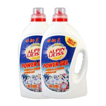 Waschmittel, Vollwaschmittel flüssig, GOLD EDITION, POWER GEL KONZENTRAT 3 L = 52 Waschladungen