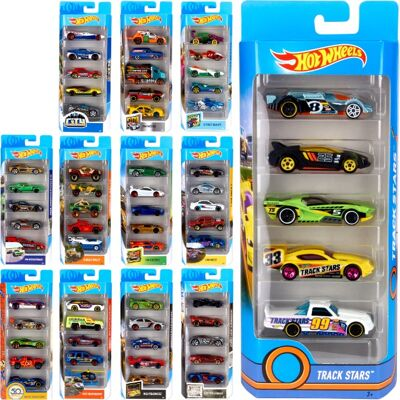 28-018060, Mattel Hot Wheels Modellautos 5er Pack, Kinderspielautos