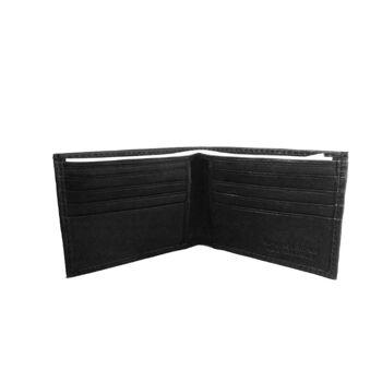 Portemonnaies aus schwarzem Leder - K128