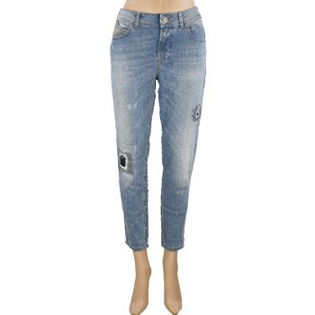 Tigerhill Aimi Roll Up Boyfried Stretch Damen Jeans Hosen 23081400