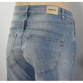 Tigerhill Aimi Roll Up Boyfriend Stretch Damen Jeans Hosen 23081400