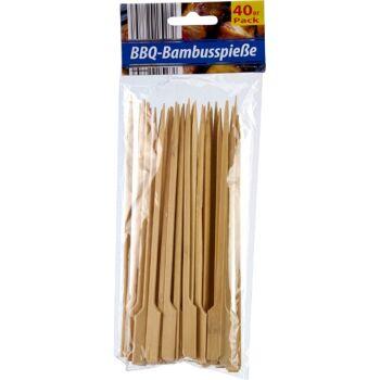 28-027757, Bambus Grillspieße 40er Pack BBQ Bambusstäbe, Schaschlik, Fleischspieß, usw
