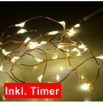 12-20247, LED Lichterkette Basics LED Mikro 10er, mit 6 Std Timer Funktion, LED Licht, Weihnachtslichtrkette