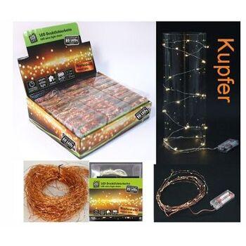 12-22094, LED Drahtlichterkette 200 cm, 20 LED, kupferfarben, LED Licht