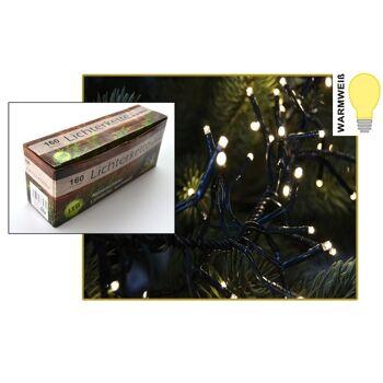 12-76397, Lichterkette LED 160er, warm weiß, für innen und außen geeignet