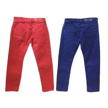 Kinder Kids Trend Hose mit Gürtel Jeanshosen Denim Stretch Hosen Stretchjeans - 3,90 Euro