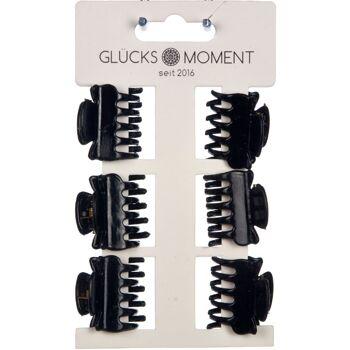 28-780255, Haarklammern in schwarz, im 6er Set, praktisch