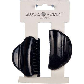 28-780293, Haarklammern 2er Set, in schwarz glänzend