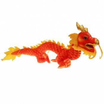 10-151120, Plüsch Drache 110 cm im Asia-Design, Plüschdrache, Plüschtier, Kuscheltier, Spieltier