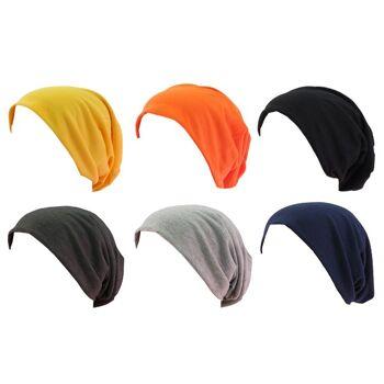 Beanie Mütze Sommer Baumwolle Trend Schlumpfmütze XXL Mütze Kopfbedeckung Style