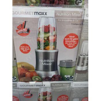 GOURMETmaxx Nutrition Mixer 11-tlg. grau