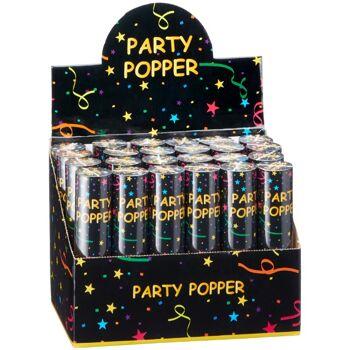 28-444737, Party Popper 20 cm, Hochzeit, Polterabend, Partypopper, Konfetti Bombe, Partyknaller, Kostüm, Konfettibombe, Konfettishooter