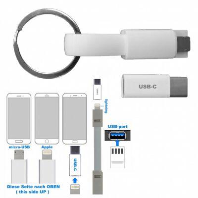 10-601300, USB Ladekabel an Schlüsselkette,