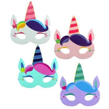 21-9663, Maske Kindermaske Einhorn, Partymaske Disco, Kostüm, Party, Karneval, Fasching, Event, Geburtstag, usw