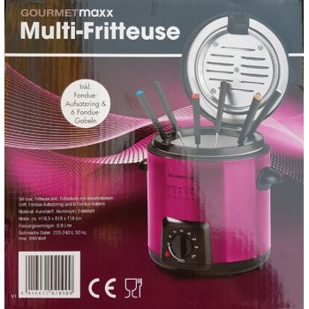 GOURMETmaxx Multi-Fritteuse 840W 2in1 - Beeren Farbe