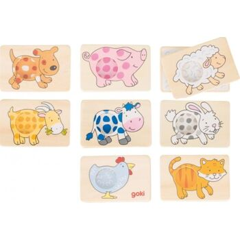 Goki Memospiel Tiermuster, 1 Stück