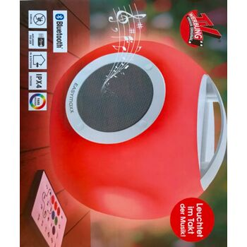 EASYmaxx LED-Bluetooth®-Lautsprecher Farbwechsel Akku Colorcube In- und Outdoor