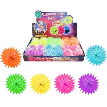 27-83974, Stachelspringball mit LED Licht, Flummi, Springball, Igelball
