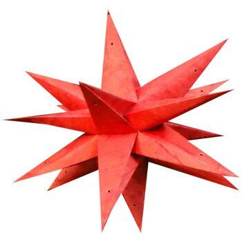 Weihnachtsstern 60cm 3D Papier-Stern Weihnachtsdeko Rio-De-Janeiro