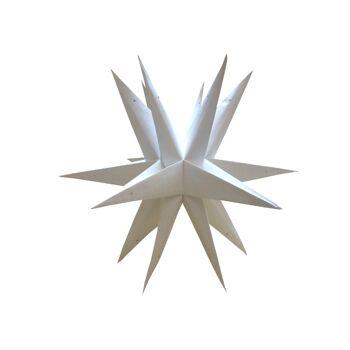 Weihnachtsstern 60cm 3D Papier-Stern Weihnachtsdeko St.-Petersburg