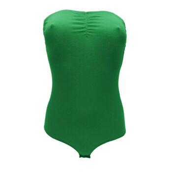 Grüne trägerlose Oberteile bodysuit