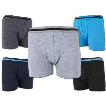 Kinder Jungen Boxershorts 2-13 Jahre Uni Boy Boxer Baumwolle Stretch Basic Hipster Short Underwear Unterwäsche Unterhosen - 0,99 Euro