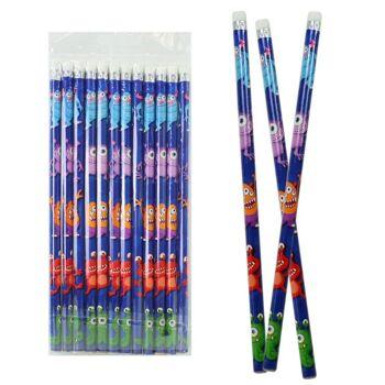 27-80177, Bleistift Monster Bleistift mit Radiergummi