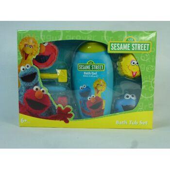 12-224451, Sesamstrasse Dusch und Bade Set 7-teilig, Kinderduschgel, bekannt aus dem TV, Kindersendung