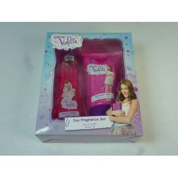 12-226189, Disney Violetta Geschenkset mit Duschgel und Eau de Toilette, Pflegeset