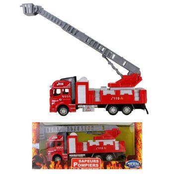 27-48798, Metall Feuerwehrauto 19 cm, mit Antrieb, LKW,