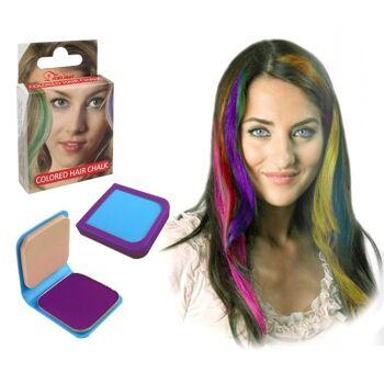 27-52571, Haarkreide 6g LILA, mit Haarspray oder Lockenstab fixieren, Party, Karneval, Fasching, Event, usw