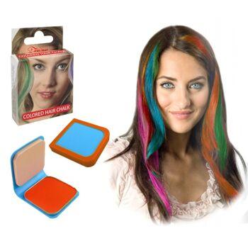 27-52572, Haarkreide 6g orange, mit Haarspray oder Lockenstab fixieren, Party, Karneval, Fasching, Event, usw++++++