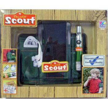 27-46194, Happy People Scout Entdecker Armtasche, inklusive Multitool (Taschenlampe, Pfeife, Kompass), aus Neopren,