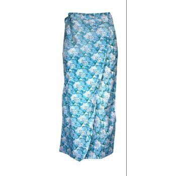 Wickelrock Damen Blumen Muster Baumwolle Strand