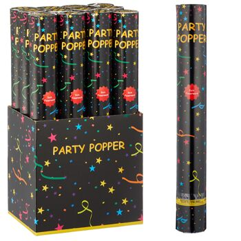 12-73572, Party Popper 40cm, Konfettiwerfer Party Popper, Partypopper, Konfettishooter, Konfettikanone, Party, Event, Silvester, Karneval,