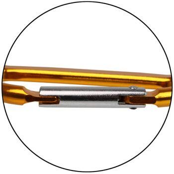 Material Karabiner Aluminium Karabinerhaken Schlüsselanhänger Haken